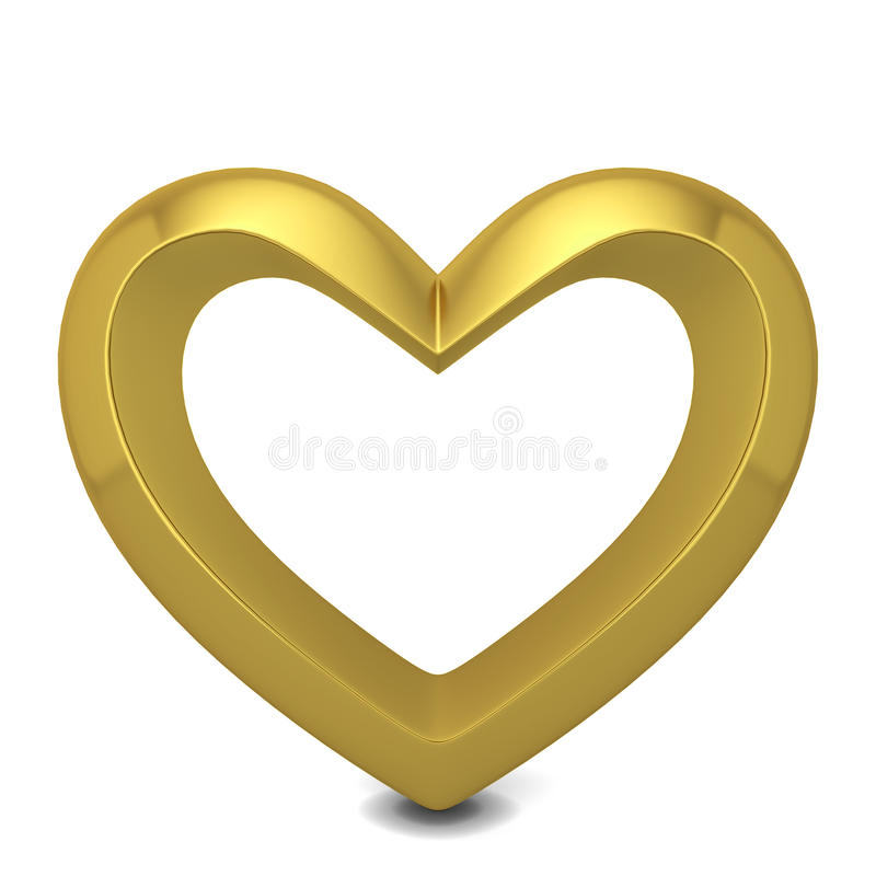złote serce ilustracja wektor