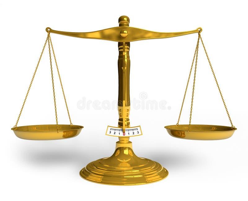 złote skala royalty ilustracja