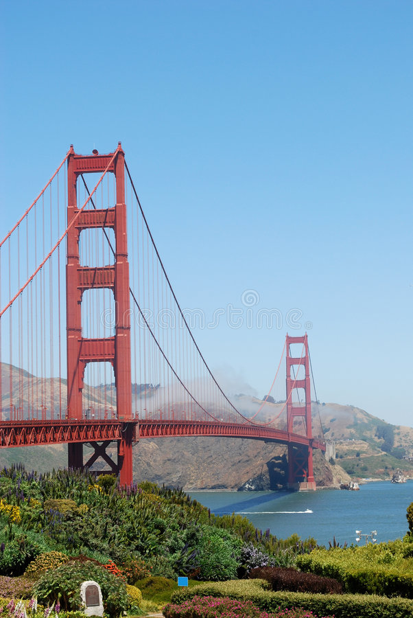 złote wrota bridge usa obrazy stock