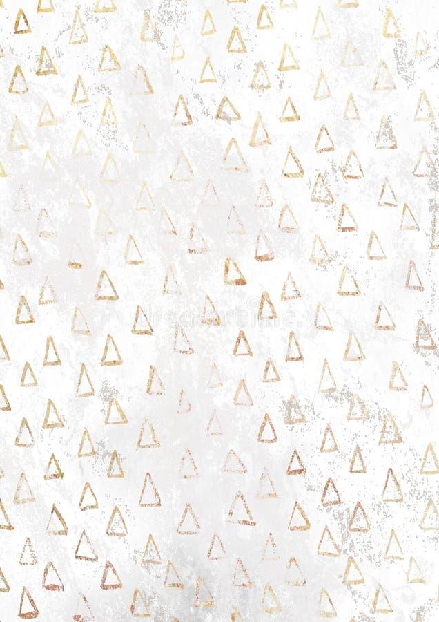 Złotego choinka wzoru białej księgi pusty ośniedziały backgroun ilustracja wektor