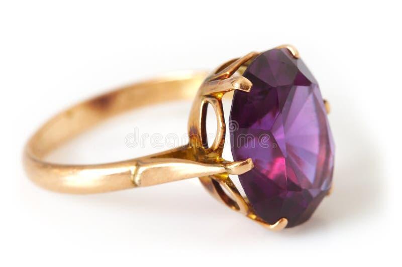 złotego grama pierścionek s obrazy stock