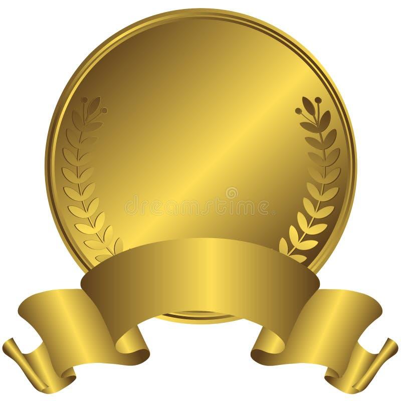 złotego medalu duży wektor royalty ilustracja