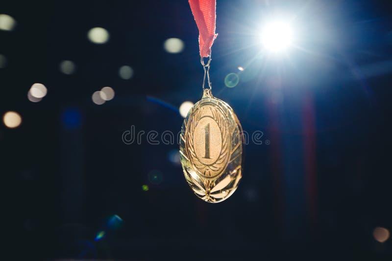 Złotego medalu zwycięzca dla pierwszy miejsca obraz royalty free