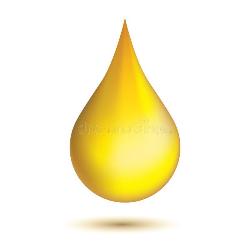 Złotego oleju kropla ilustracja wektor