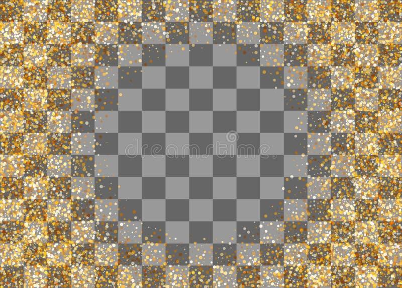 Złotego shimmer przypadkowi spada confetti ilustracji