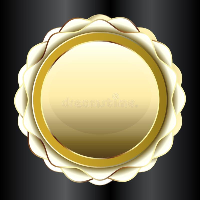 Złotej foki etykietki ikony element dla twój projekta wektoru wizerunku royalty ilustracja