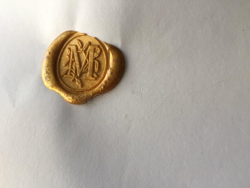 złotej foki wosk obrazy stock