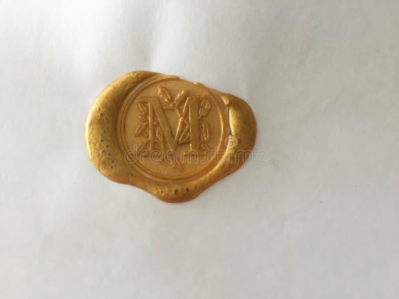 złotej foki wosk obraz stock