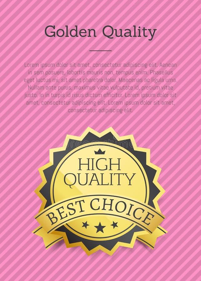 Złotej ilości Plakatowy Wyłączny Wysoki Najlepszy wybór ilustracji