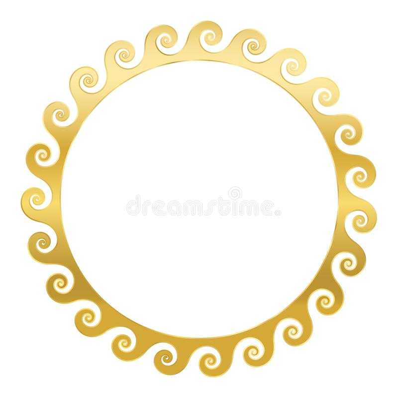 Złotej spirali ramy Bezszwowe fale ilustracji