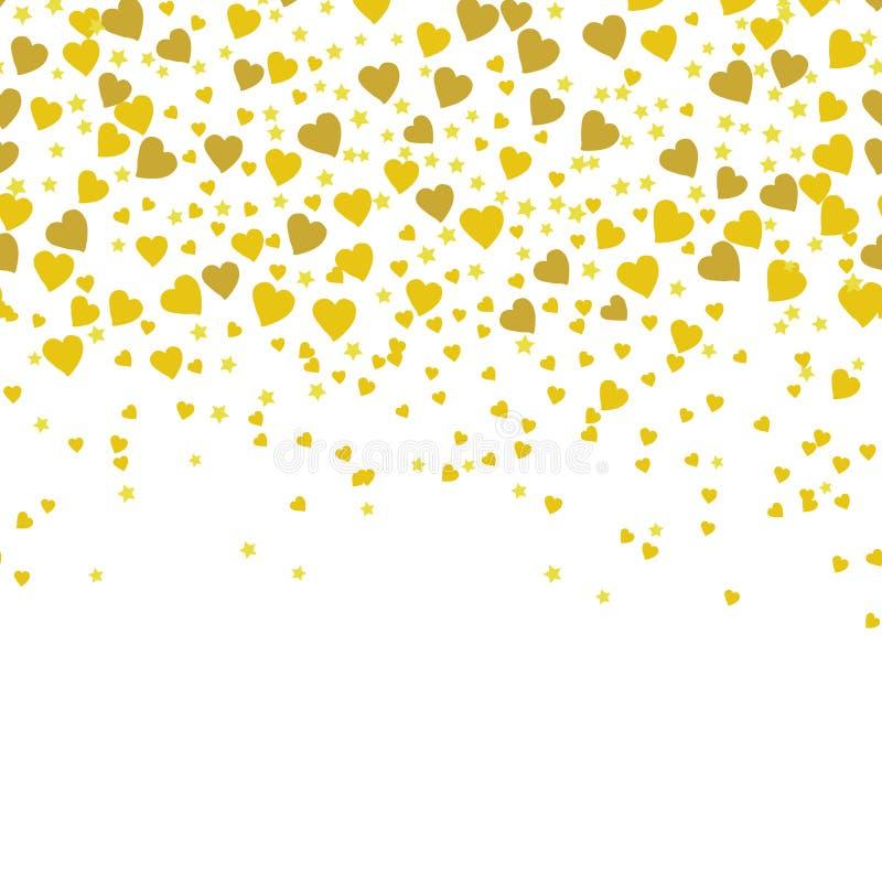 Złoto błyska na białym tle Złocisty błyskotliwości tło royalty ilustracja