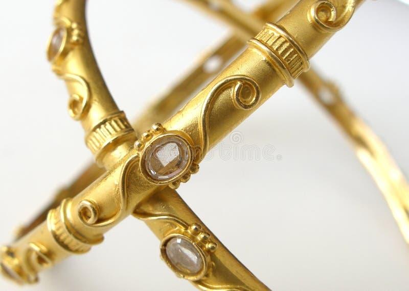 złoto bangle iii zdjęcia royalty free