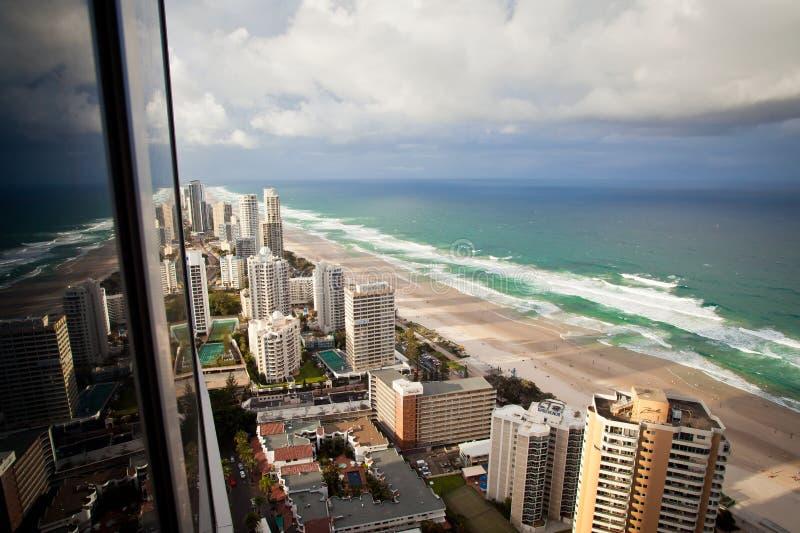 Złoto Brzegowy Queensland Australia - prysznic i tęcza zdjęcia royalty free