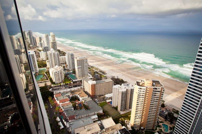 Złoto Brzegowy Queensland Australia - prysznic i tęcza obraz royalty free