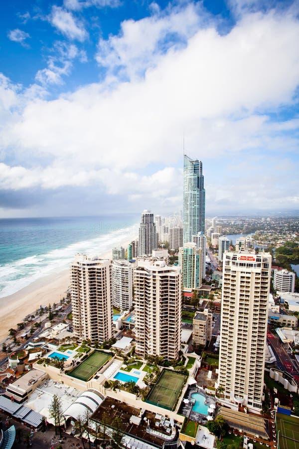 Złoto Brzegowy Queensland Australia - Q1 ranku scena obraz stock