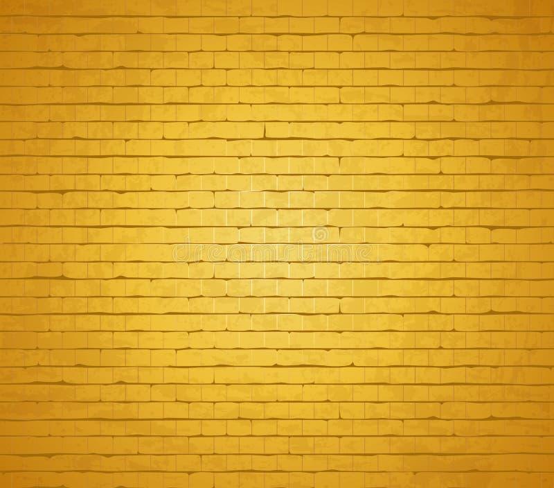 złoto ceglana ściana royalty ilustracja