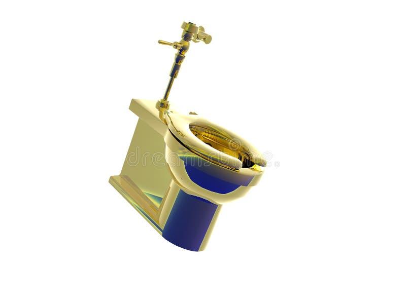 złoto do toalety ilustracja wektor