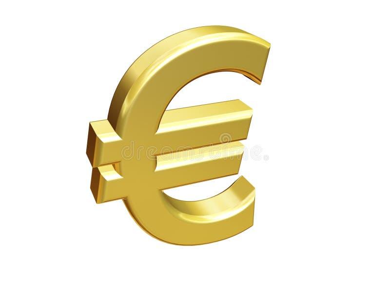 złoto euro znak ilustracji
