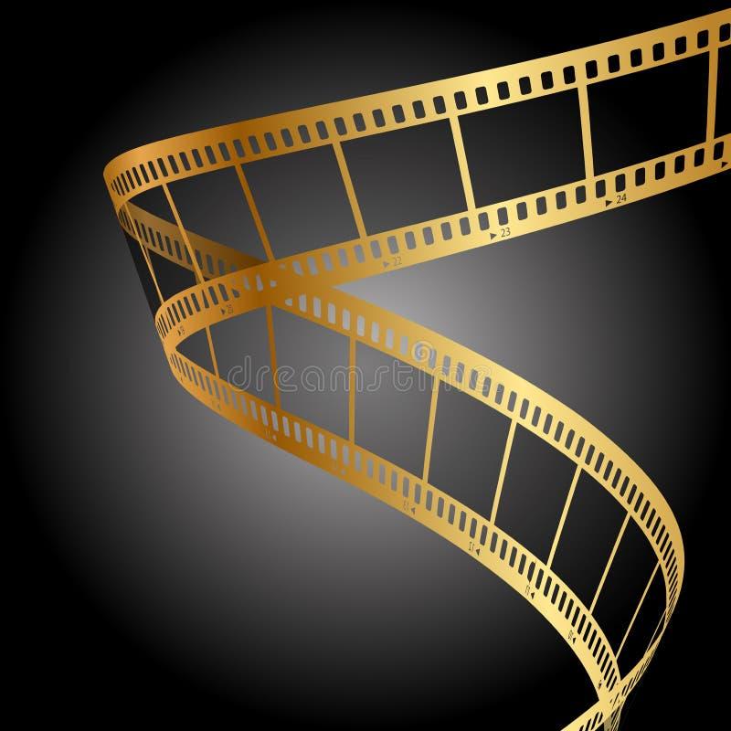 Złoto filmu pasek ilustracja wektor