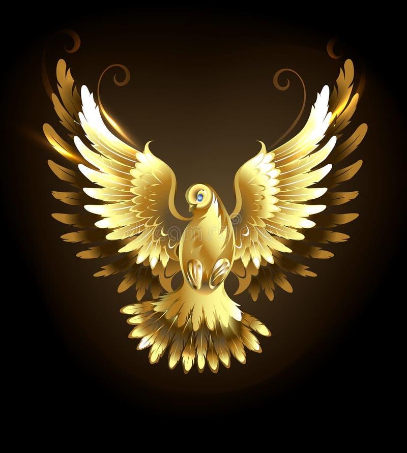 Złoto gołąbka royalty ilustracja