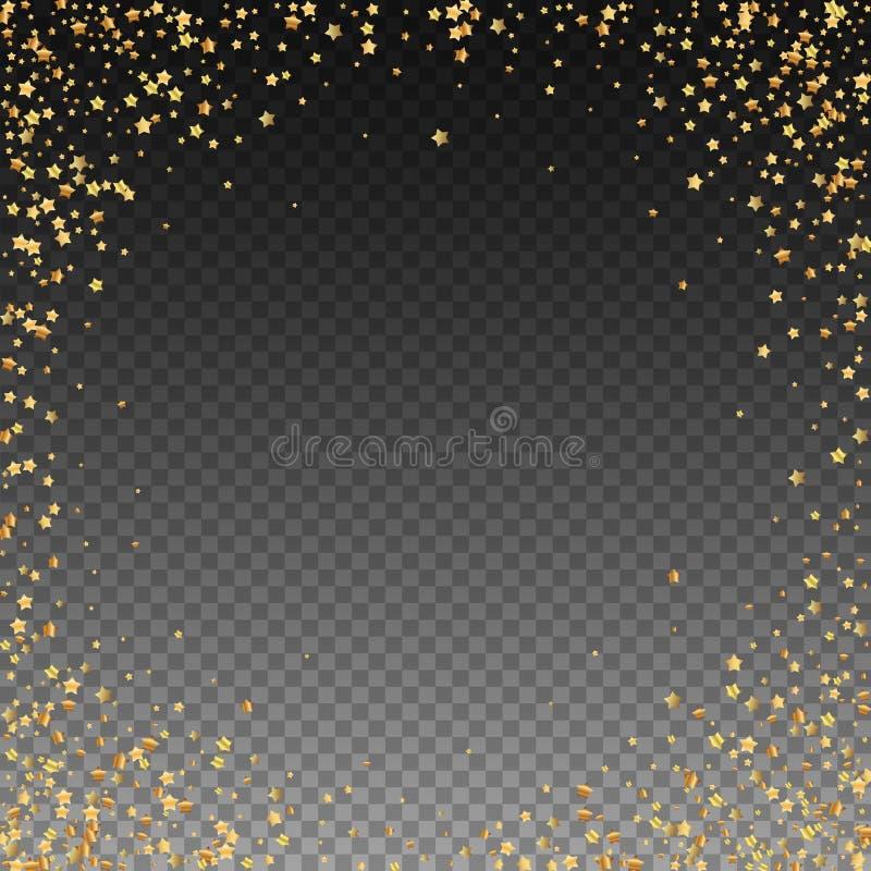 Złoto gra główna rolę luksusowych iskrzastych confetti Rozrzucony sm royalty ilustracja