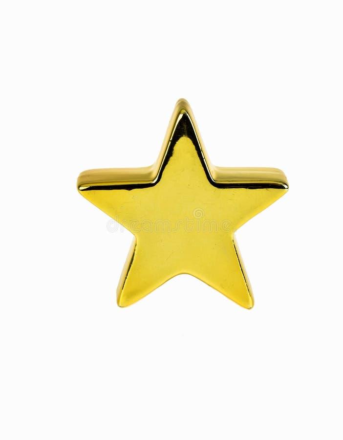 Złoto gwiazda zdjęcia stock