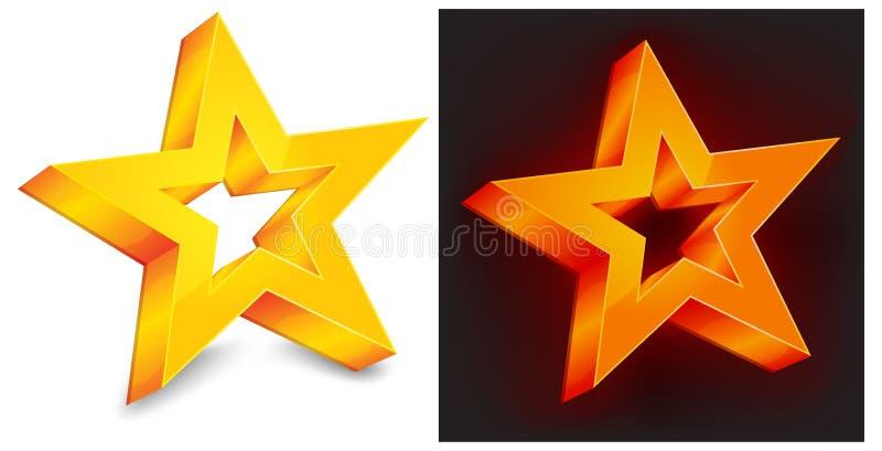 złoto gwiazda dwa ilustracji