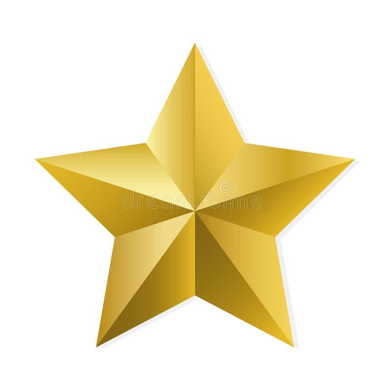 Złoto gwiazda odizolowywający wektorowy przedmiot royalty ilustracja