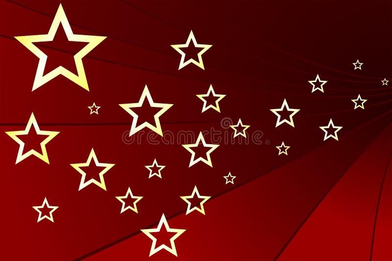 złoto gwiazdy royalty ilustracja