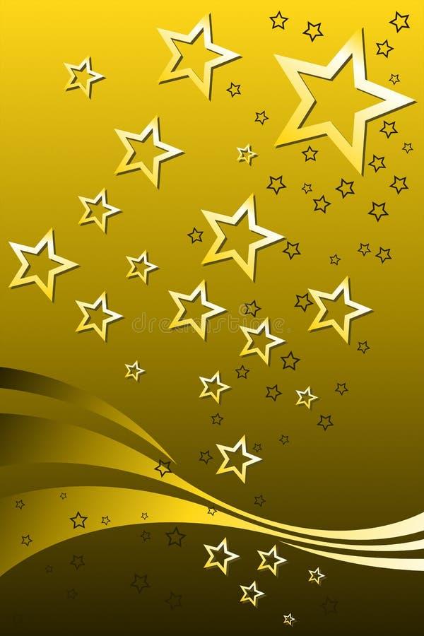 złoto gwiazdy ilustracji