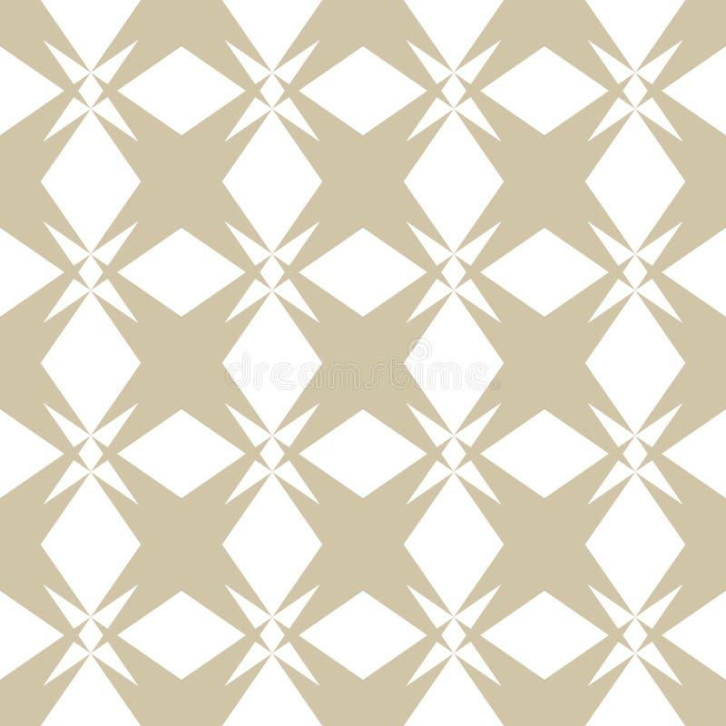 Złoto i biały bezszwowy wzór w azjata projektujemy Powtórka ornamentacyjny dekoracyjny projekt ilustracji