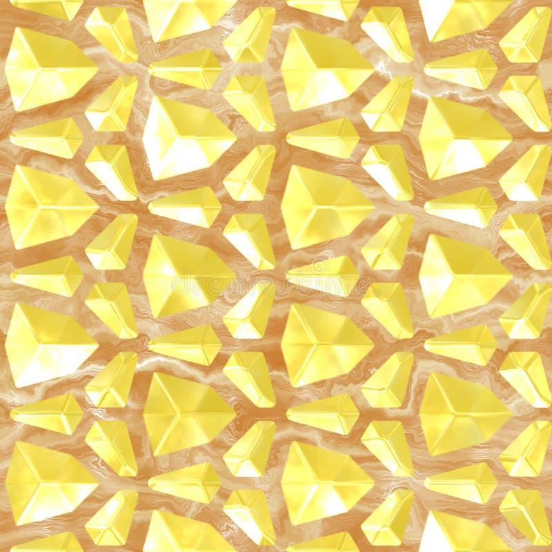 Złoto i marmur royalty ilustracja