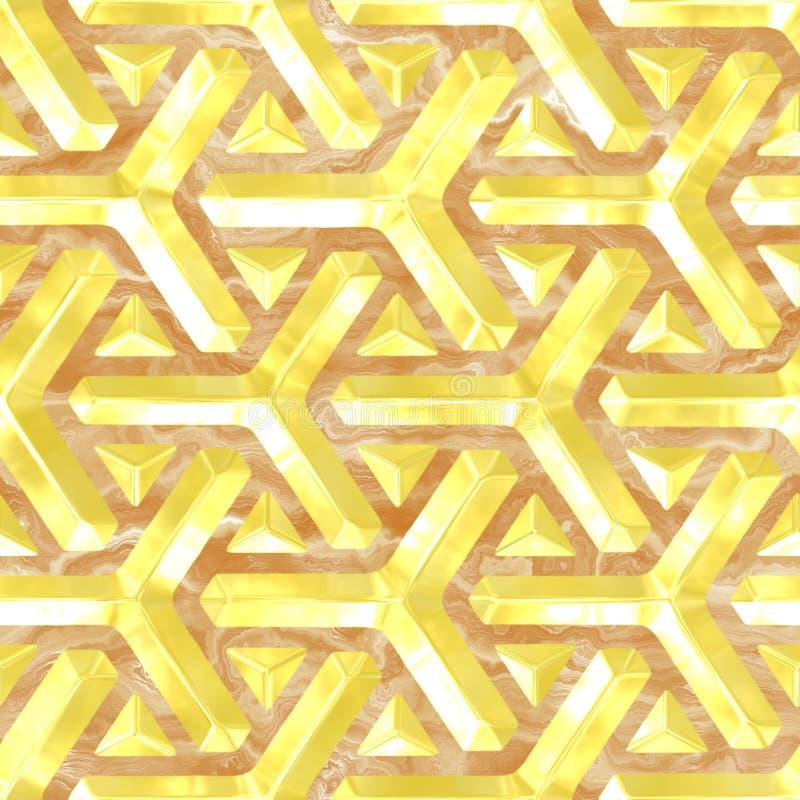 Złoto i marmur ilustracja wektor