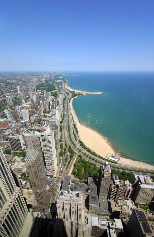 złoto jest chicago wybrzeża zdjęcie royalty free