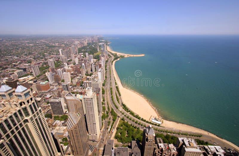 złoto jest chicago wybrzeża fotografia royalty free