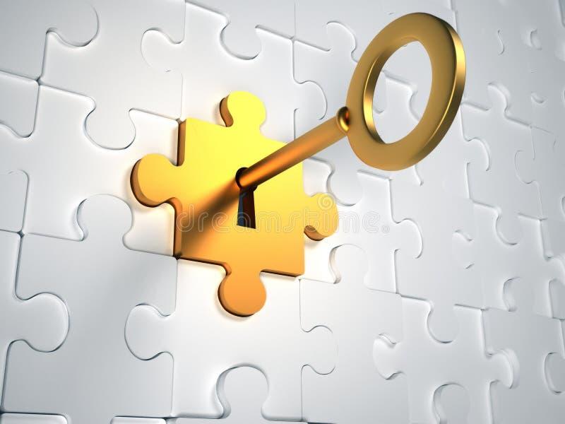 złoto klucz ilustracja wektor
