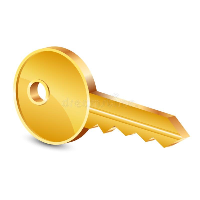 Złoto klucz royalty ilustracja