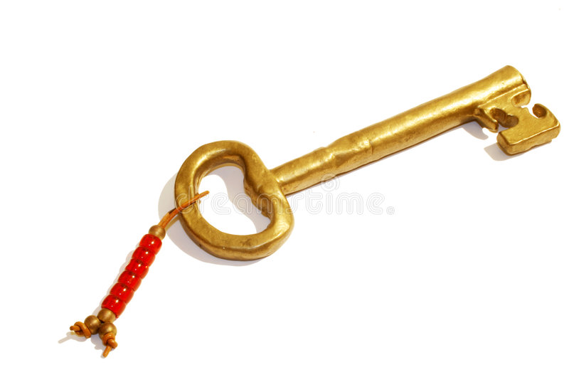 złoto klucz zdjęcie stock