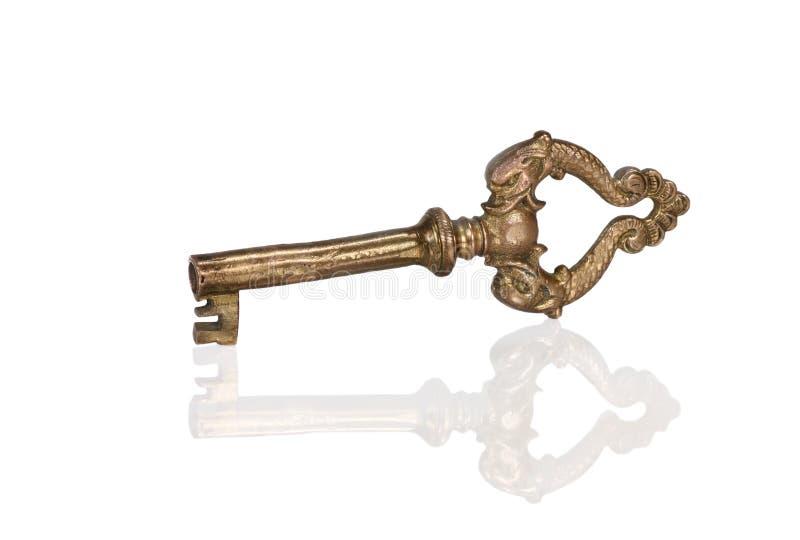 złoto klucz fotografia stock
