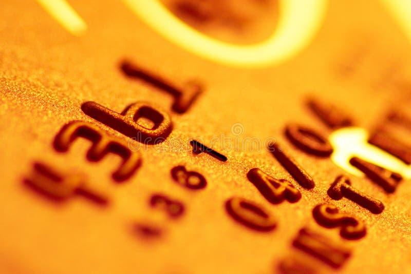 złoto kredytowe karty zdjęcie stock