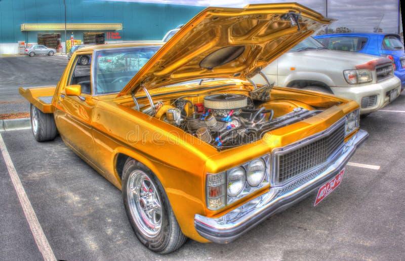 Złoto malujący Holden pikap zdjęcia royalty free