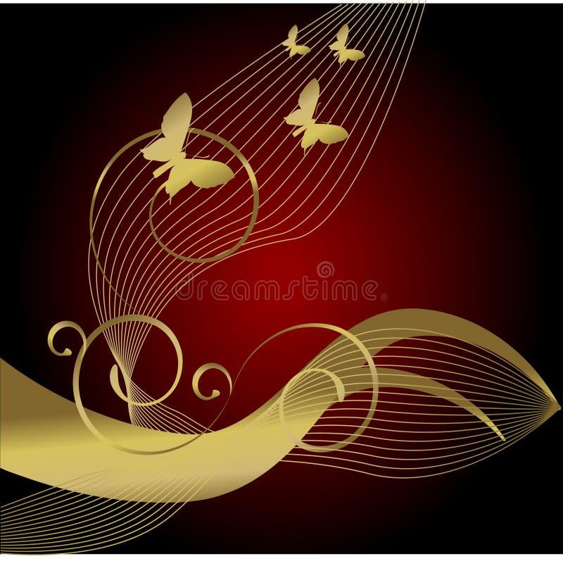 złoto motyla royalty ilustracja