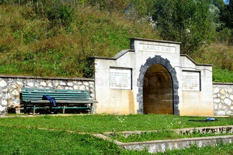 Złoto - muzeum stara rzymska kopalnia złota Rosia Montana, Transylvania obrazy royalty free