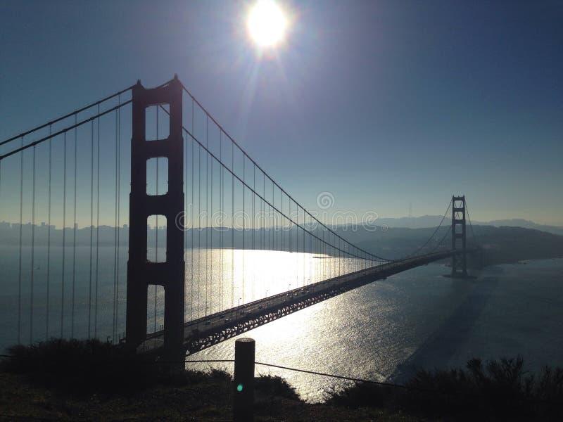 Złoto na Golden Gate Bridge fotografia stock