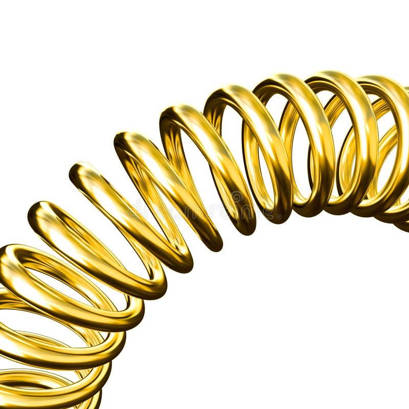 złoto odizolowana wiosna royalty ilustracja