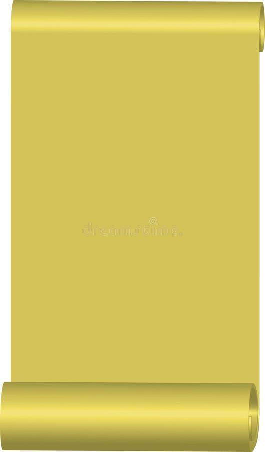 złoto papier ilustracji
