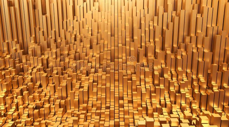 Złoto Pieniądze projekta tła 3d abstrakcjonistyczna ilustracja ilustracja wektor