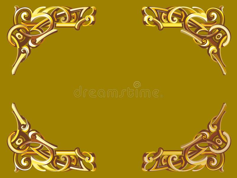 Złoto rama w wiktoriański stylu ilustracja wektor