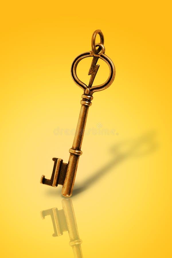 złoto rocznik kluczowy stary obraz stock