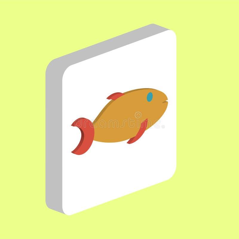 Złoto Rybi komputerowy symbol ilustracja wektor